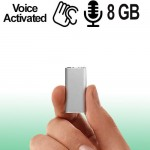Ultra-Micro Spionagerecorder, 8GB, Voice-Activated